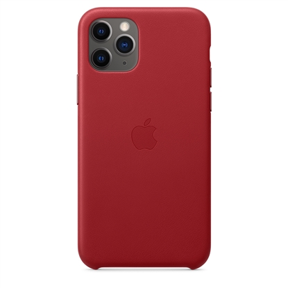 Picture of iPhone 11 Pro Leather Case - (PRODUCT) RED MWYF2ZM/A