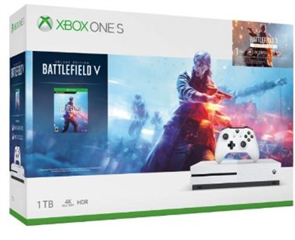 Picture of Microsoft Xbox One S 1TB Battlefield V Deluxe Edition White