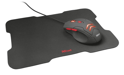 Picture of Trust Gaming Mouse with Mouse Pad ZiVa